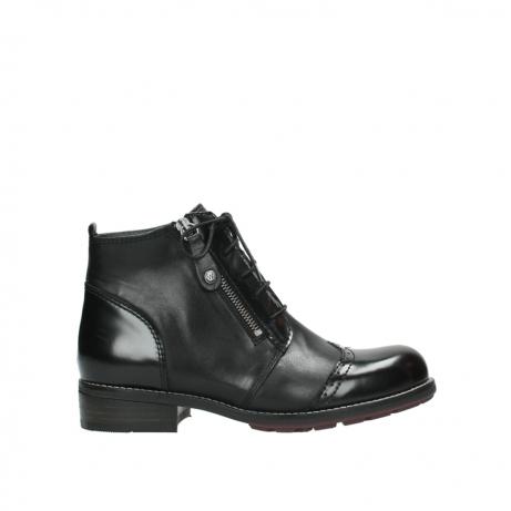 wolky boots 4440 millstream 300 schwarz poliertes leder