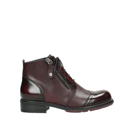 wolky boots 4440 millstream 351 bordeaux poliertes leder