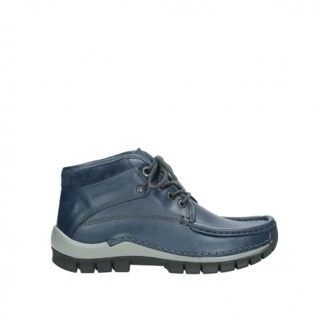 wolky veterboots 4729 cross winter cw 281 kobalt blauw leer