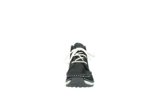 wolky veterboots 4803 olympia 107 zwart zomer nubuck_19