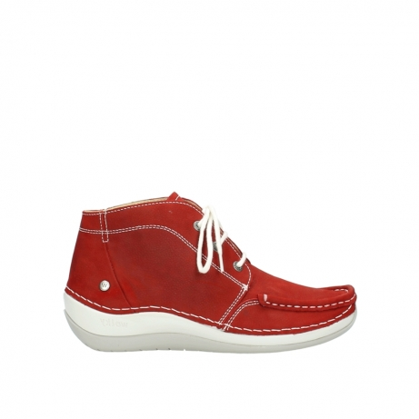 wolky veterboots 4803 olympia 157 rood zomer nubuck