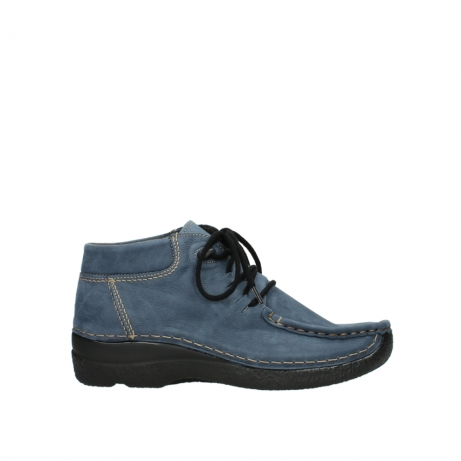 wolky veterboots 6253 seamy moc 180 donkerblauw nubuck