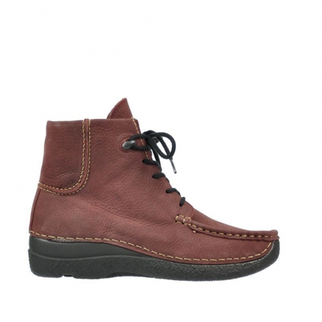 wolky boots 6284 seamy shoot 151 bordeaux nubukleder