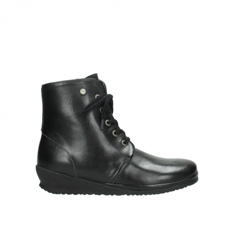 wolky boots 7252 madera 500 schwarz geoltes leder