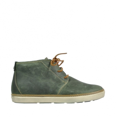 wolky veterboots 9451 cardiff 573 forest groen leer