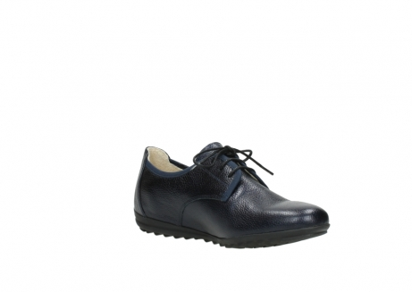 wolky lace up shoes 00126 luzern 81800 blue metallic leather_16
