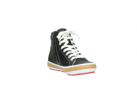 wolky lace up shoes 01225 biker 20000 black leather_17