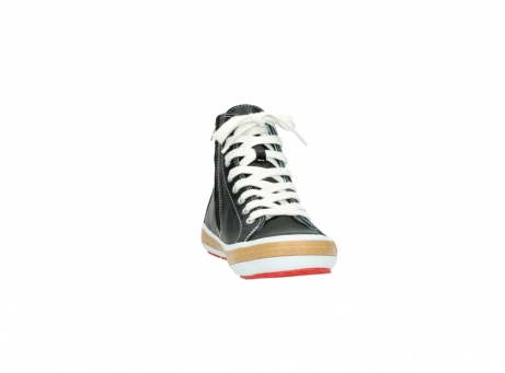 wolky lace up shoes 01225 biker 20000 black leather_18