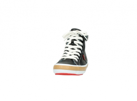 wolky lace up shoes 01225 biker 20000 black leather_20