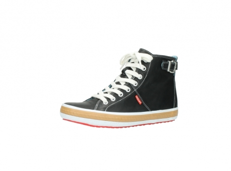 wolky lace up shoes 01225 biker 20000 black leather_23