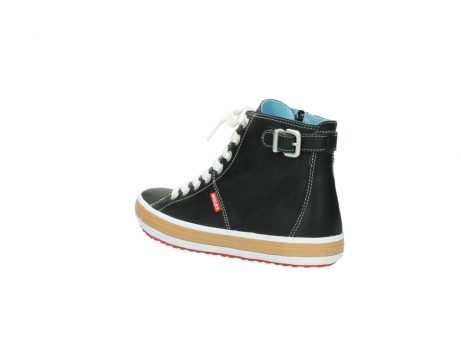 wolky lace up shoes 01225 biker 20000 black leather_4