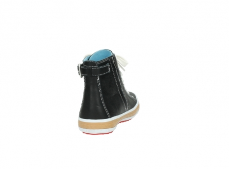 wolky lace up shoes 01225 biker 20000 black leather_8