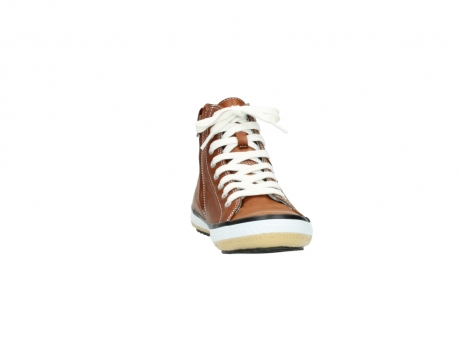 wolky lace up shoes 01225 biker 20430 cognac leather_18
