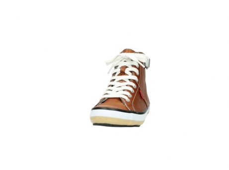 wolky lace up shoes 01225 biker 20430 cognac leather_20