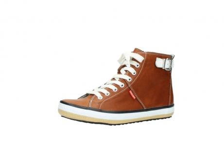 wolky lace up shoes 01225 biker 20430 cognac leather_23