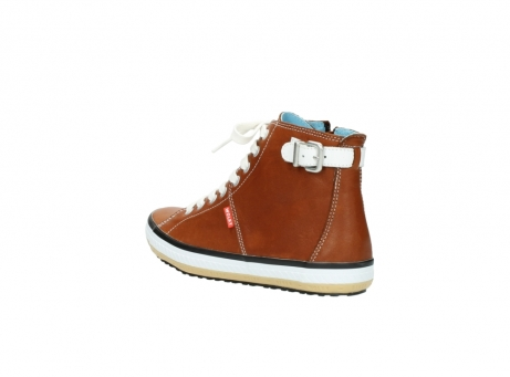 wolky lace up shoes 01225 biker 20430 cognac leather_4
