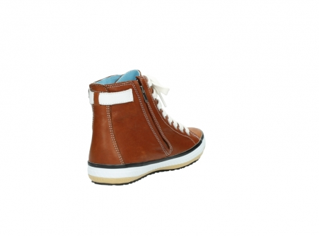 wolky lace up shoes 01225 biker 20430 cognac leather_9