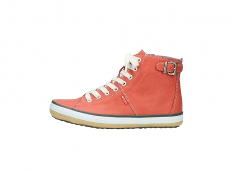 wolky lace up shoes 01225 biker 20530 coral red leather_1