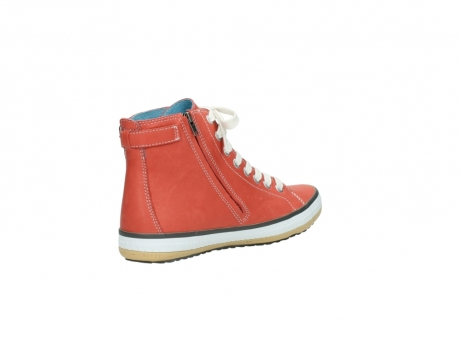 wolky lace up shoes 01225 biker 20530 coral red leather_10