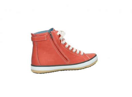 wolky lace up shoes 01225 biker 20530 coral red leather_11