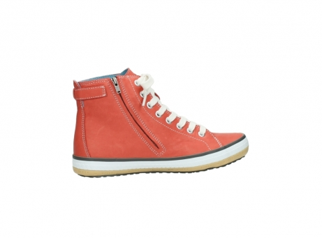 wolky lace up shoes 01225 biker 20530 coral red leather_12