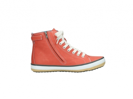 wolky lace up shoes 01225 biker 20530 coral red leather_13