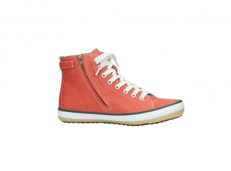 wolky lace up shoes 01225 biker 20530 coral red leather_14