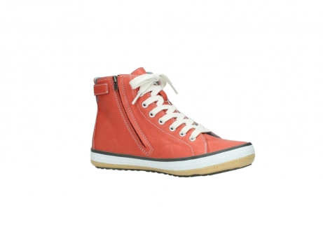 wolky lace up shoes 01225 biker 20530 coral red leather_15