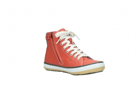 wolky lace up shoes 01225 biker 20530 coral red leather_16