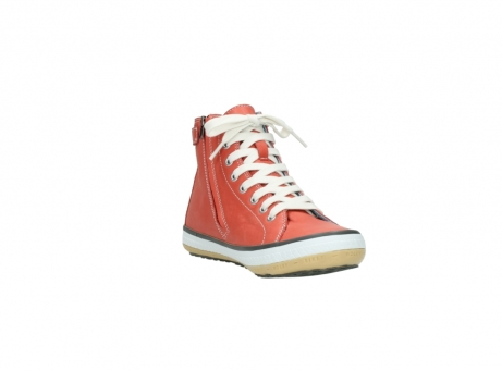 wolky lace up shoes 01225 biker 20530 coral red leather_17