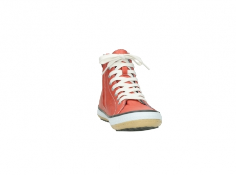 wolky lace up shoes 01225 biker 20530 coral red leather_18