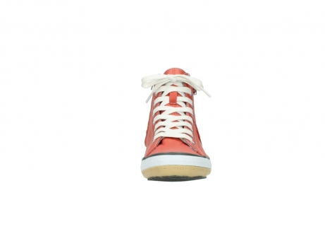 wolky lace up shoes 01225 biker 20530 coral red leather_19
