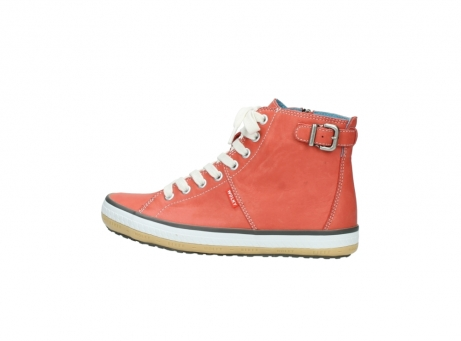 wolky lace up shoes 01225 biker 20530 coral red leather_2