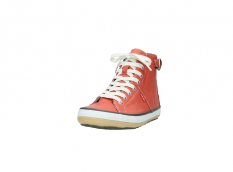 wolky lace up shoes 01225 biker 20530 coral red leather_21