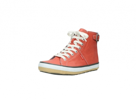 wolky lace up shoes 01225 biker 20530 coral red leather_22