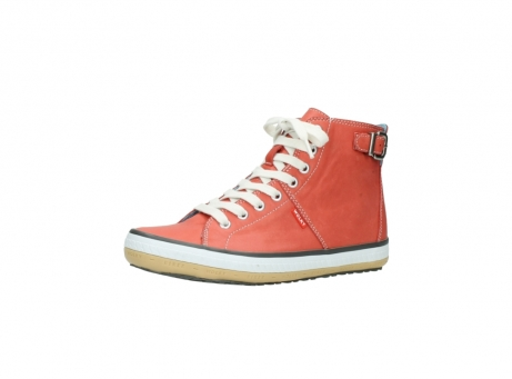 wolky lace up shoes 01225 biker 20530 coral red leather_23