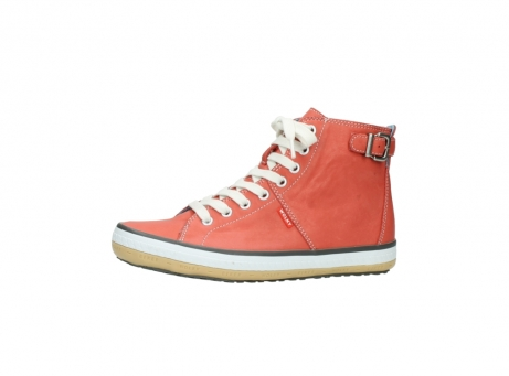 wolky lace up shoes 01225 biker 20530 coral red leather_24