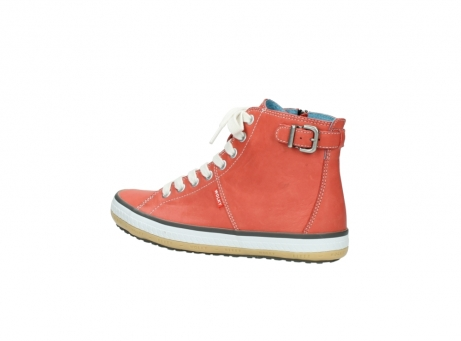 wolky lace up shoes 01225 biker 20530 coral red leather_3