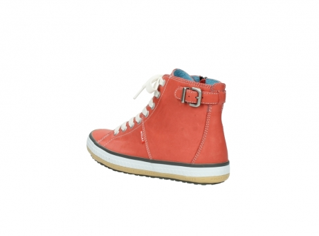 wolky lace up shoes 01225 biker 20530 coral red leather_4