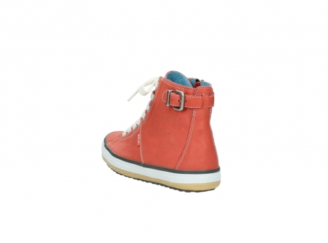 wolky lace up shoes 01225 biker 20530 coral red leather_5