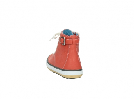wolky lace up shoes 01225 biker 20530 coral red leather_6