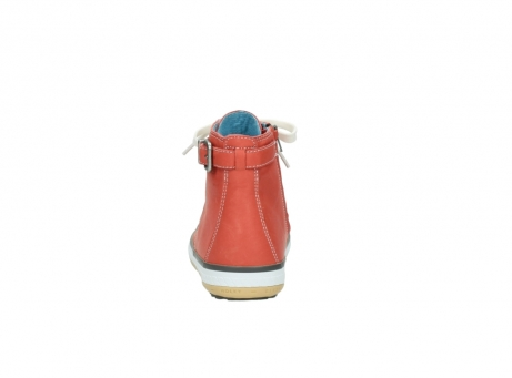 wolky lace up shoes 01225 biker 20530 coral red leather_7