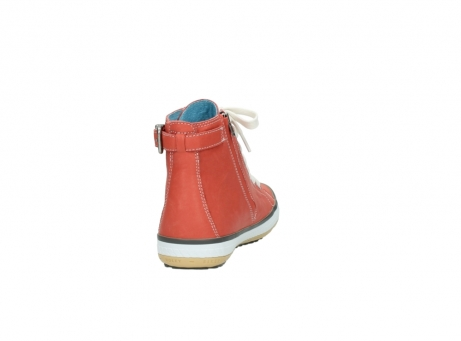 wolky lace up shoes 01225 biker 20530 coral red leather_8