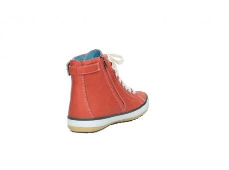 wolky lace up shoes 01225 biker 20530 coral red leather_9