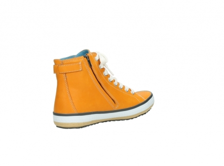 wolky lace up shoes 01225 biker 20550 orange leather_10
