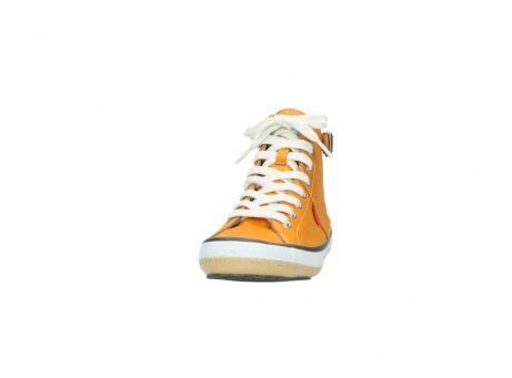 wolky lace up shoes 01225 biker 20550 orange leather_20