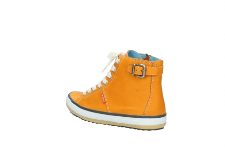 wolky lace up shoes 01225 biker 20550 orange leather_4