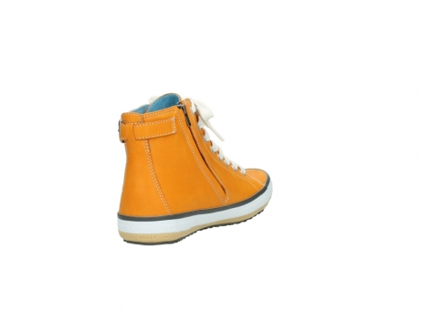 wolky lace up shoes 01225 biker 20550 orange leather_9