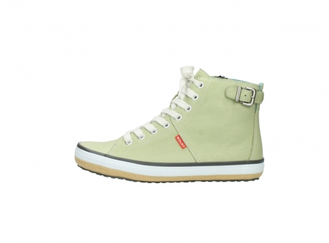wolky lace up shoes 01225 biker 20700 light green leather_1