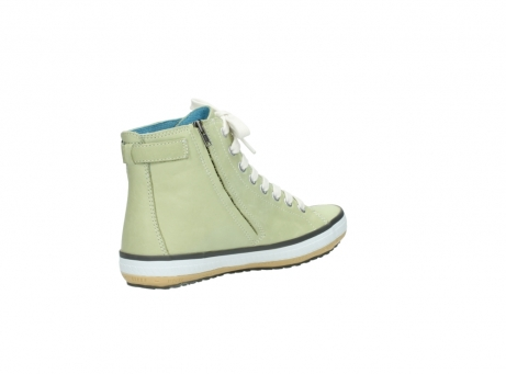 wolky lace up shoes 01225 biker 20700 light green leather_10